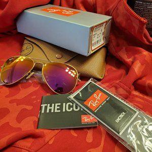 Ray Ban Sunglasses Cyclamen Pink FLash New